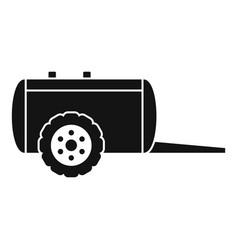 Farm trail cistern icon simple style vector