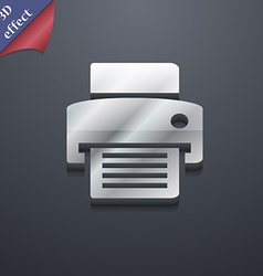 Fax printer icon symbol 3D style Trendy modern vector