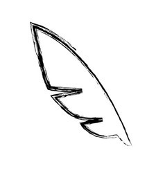 Figure feather to symbol of writing icon vector