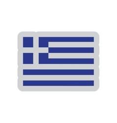 Flat web icon on white background flag of Greece vector