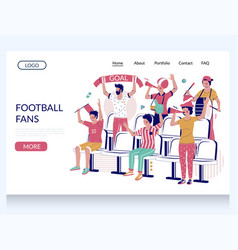football fans website landing page design vector image