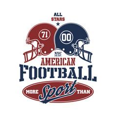 football helmet stylized vector image
