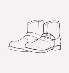 frye boots icon line element vector image