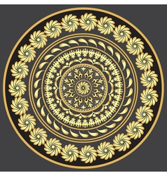 Gold round vintage pattern vector