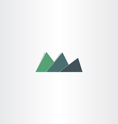 green mountain icon abstract logo design vector image