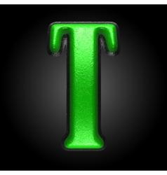 green plastic figure t vector image