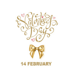 happy valentines day greeting flyer vector image
