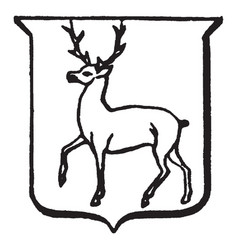 Heraldry trippant have depicts a male deer vector