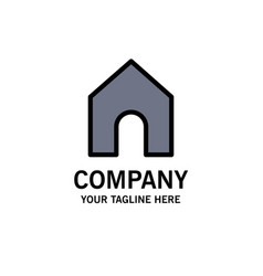 Home instagram interface business logo template vector