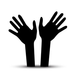 human hands palm hand symbol vector image