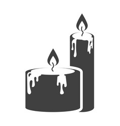Icon of two candles standing next to each other vector