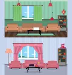 interior room of teenage boy and girl vector image
