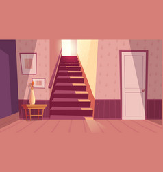 interior with staircase stairs in house vector image