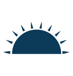 isolated half sun vector image