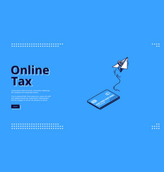 landing page online tax mobile payment vector image
