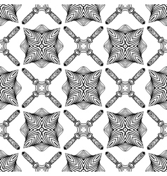 Linear art deco black and white pattern vector