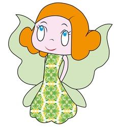 Little fairy beautiful fairy a fun fairy vector
