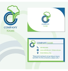 Logo business company card vector