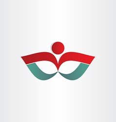 Man exercise flower shape symbol vector
