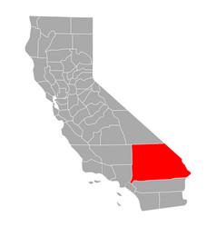 map san bernardino in california vector image