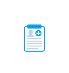 medical history icon on white vector image