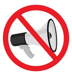Megaphone sign stop vector image