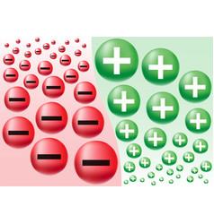 Negative positive business attitude vector