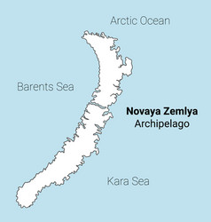 Novaya zemlya map vector