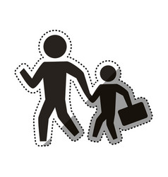 People crossing walking vector