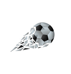 polygonal broken soccer ball vector image