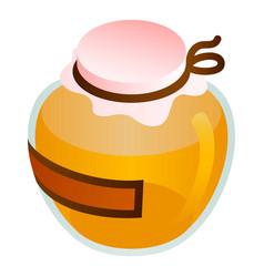 Premium honey jar icon isometric style vector