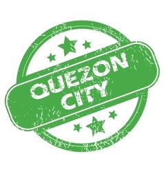 Quezon City green stamp vector
