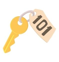 Room key at hotel icon cartoon style vector