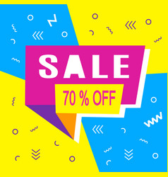 Sale modern banner template design vector