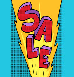 sale pop art background vector image