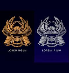 samurai mask head vector image