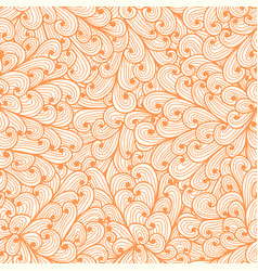 seamless floral pink doodle pattern with swirls vector image