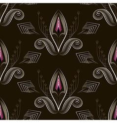 Seamless pattern art deco graphic ornament vector image
