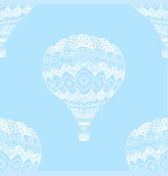 seamless pattern of hot air balloon vector image
