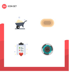 Set 4 modern ui icons symbols signs for one vector
