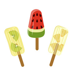 Set of popsicles vector