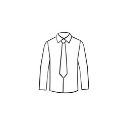 shirt with necktie hand drawn sketch icon vector image
