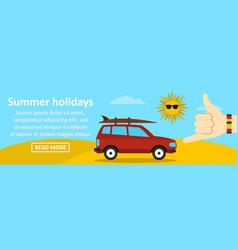 summer holidays banner horizontal concept vector image