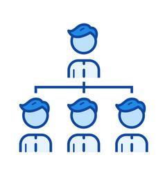 team managment line icon vector image
