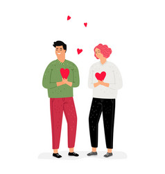 teenagers in love vector image
