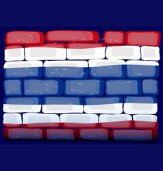 Thailand flag on the wall vector