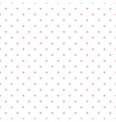 Tile pattern pink polka dots white background vector image