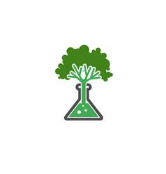 tree laboratory symbol logo vector image