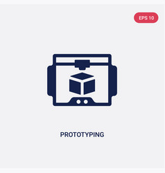 Two color prototyping icon from general concept vector