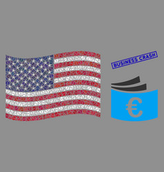 united states flag collage euro checkbook and vector image